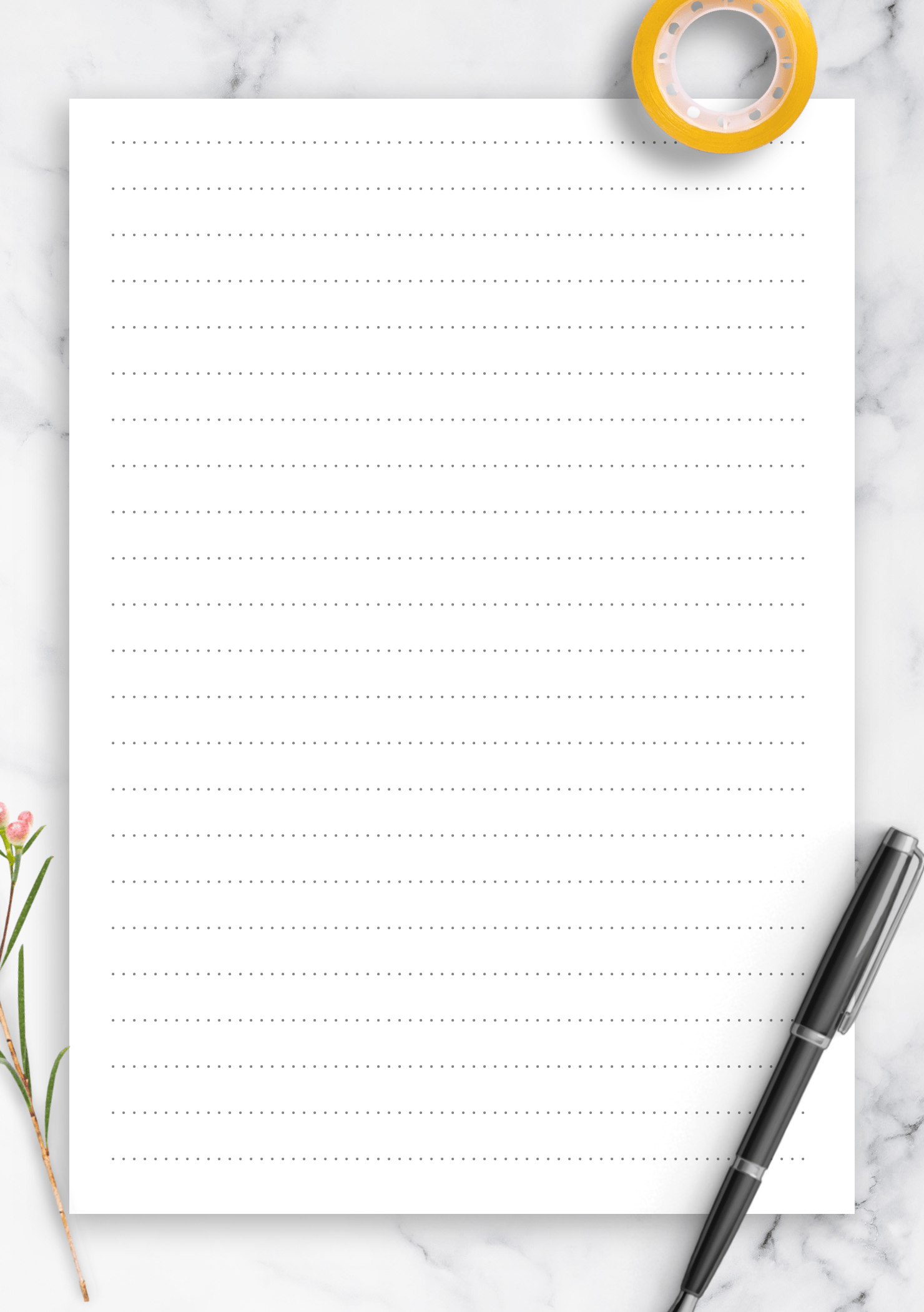 Download Printable Dotted Lined Paper Printables 8 7 Mm
