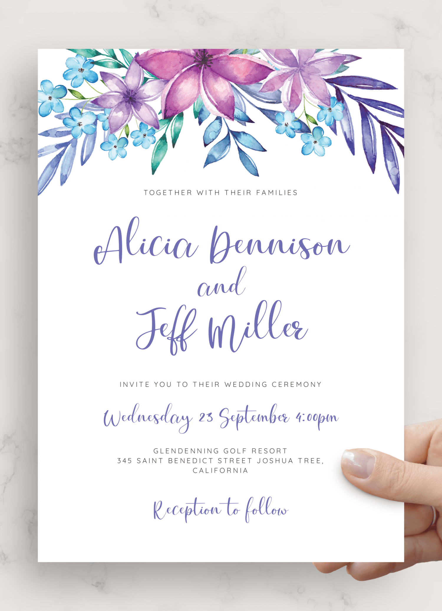 download printable purple and blue