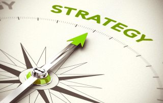 Arrow pointing to Strategy