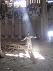 Soldier-In-Light-Beam