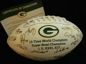 Green Bay Packers Silent Auction Signed Collector's Football 2011 Team