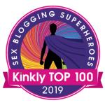 Kinkly Top 100 Sex Blogging Superheros badge