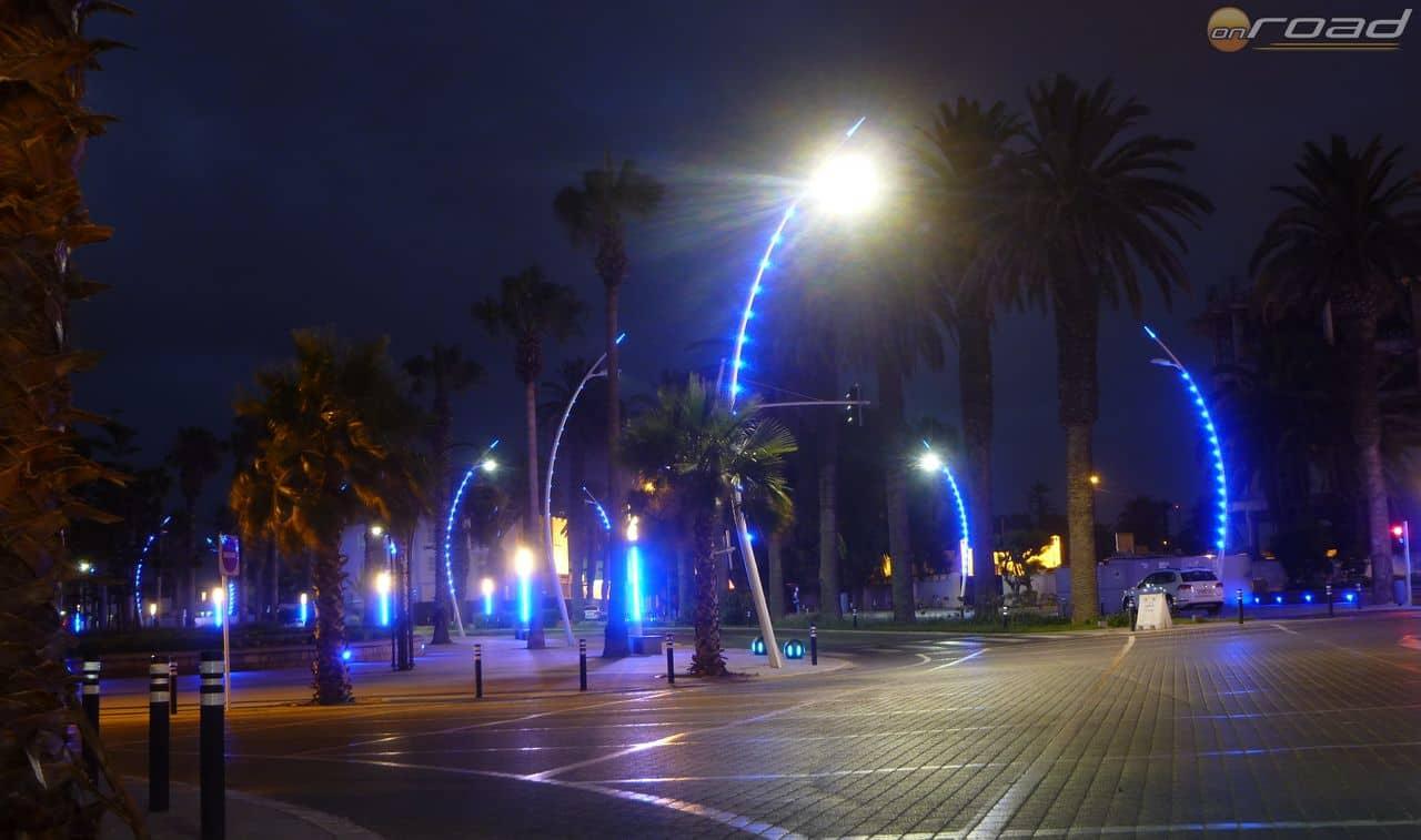 El Jadida üdülőváros, éjszakai pompában