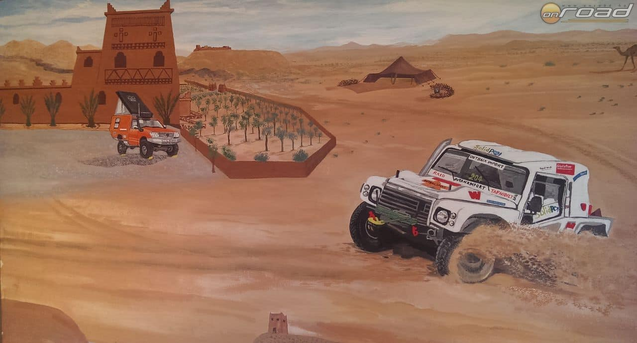 A tan-tan-i kemping falait ilyen festmények díszítik - a Dakar gyökereire emlékezve, amely egykor itt haladt el