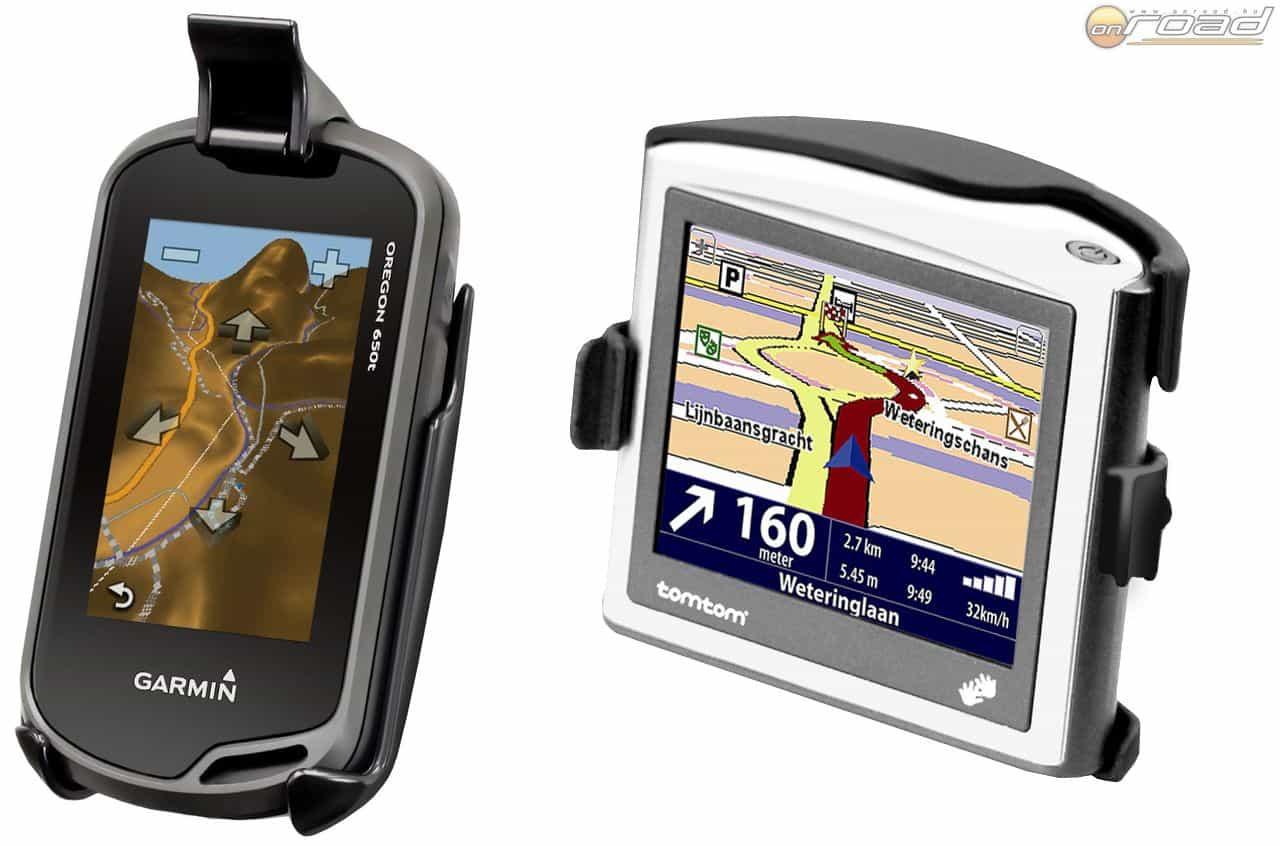 Az elterjedt GPS készülékekhez típusspecifikusan kapunk tartót