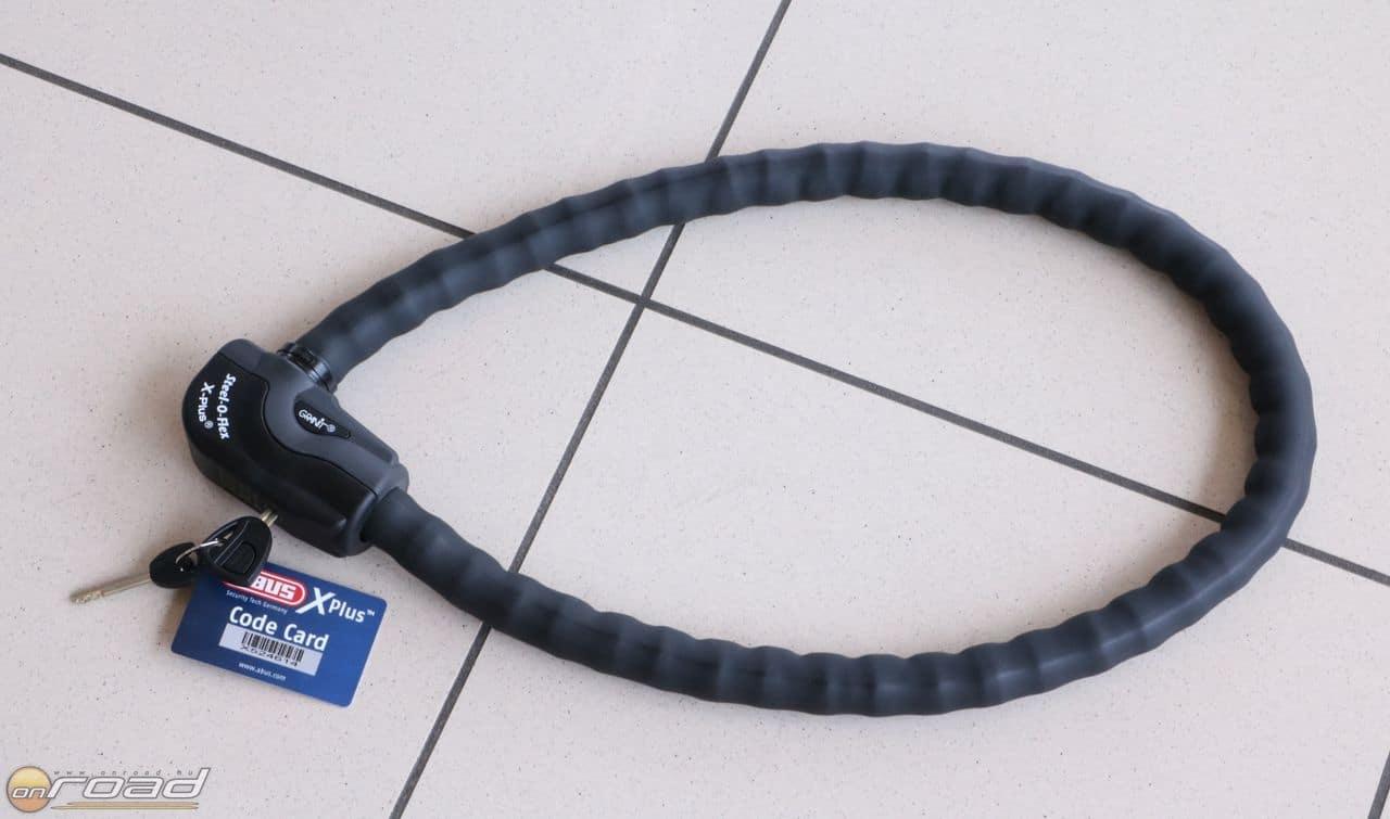 A Steel-O-Flex egy kábelzár, amely keresztülvágás ellen versenytársai többségénél sokkal védettebb belső acélpikkelyeinek köszönhetően