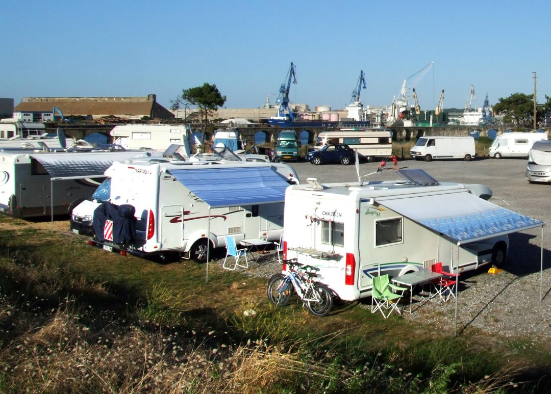Autocaravanas acampadas
