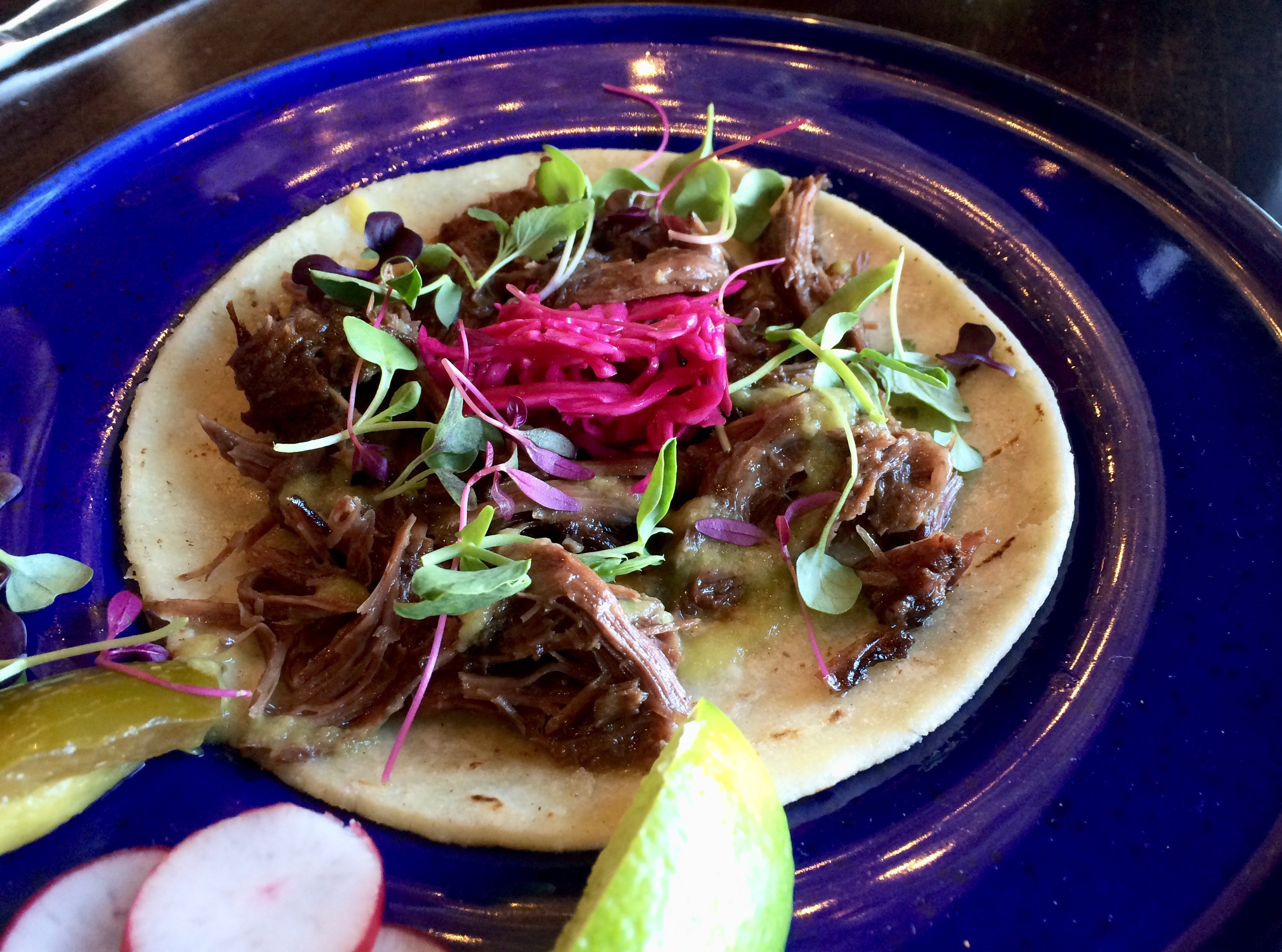 Beef Cheek Tacos at Ceremony in Studio City
