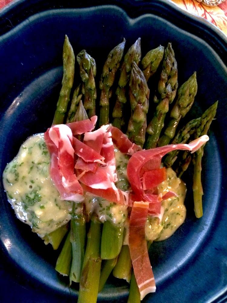 asperges with ham