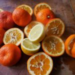 Halved oranges and lemons