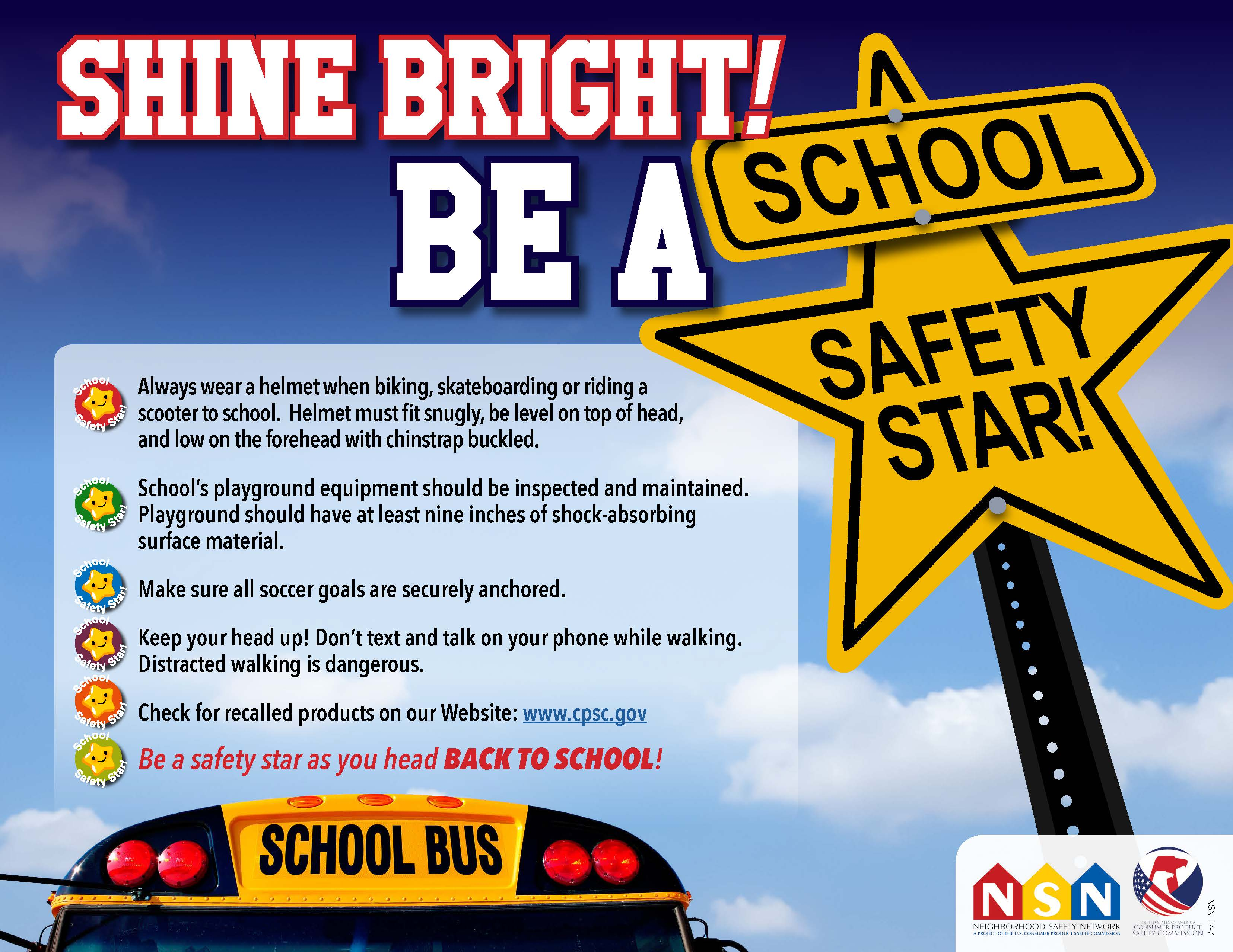 Onsafety Shine Bright Be A School Safety Star