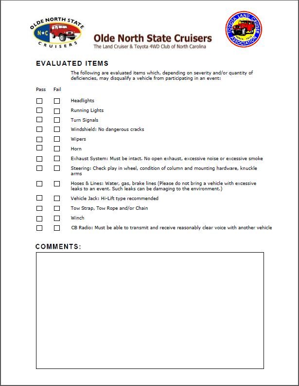 ONSC Inspection Form P2