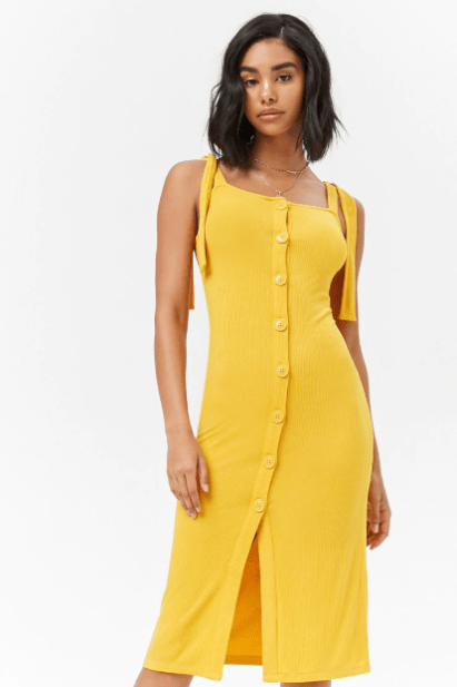 Ribbed Button-Down Dress, $17.90