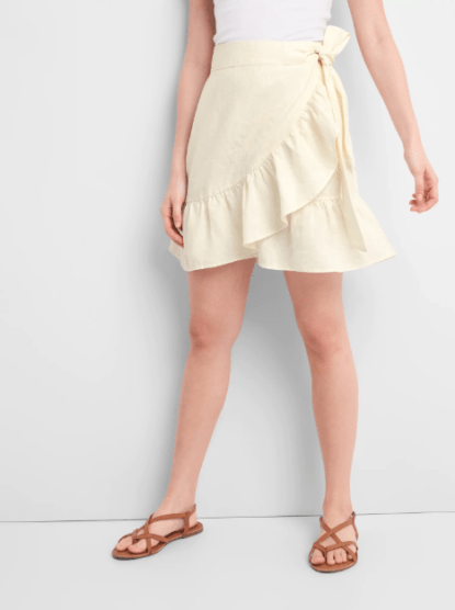 Ruffle Wrap Skirt, $34.99