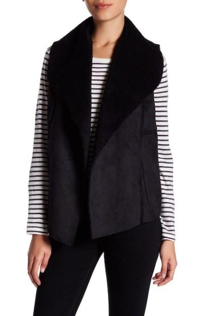 Faux Shearling & Faux Suede Vest, $19.97