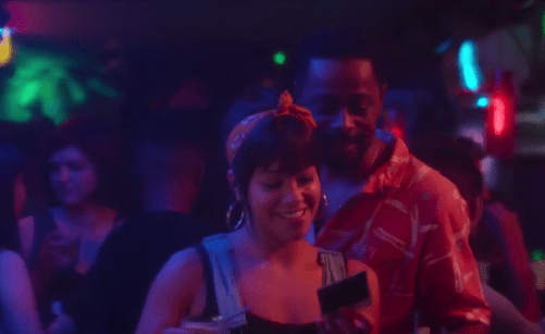 Gina Rodriguez and Lakeith Stanfield in Someone Great   Netflix