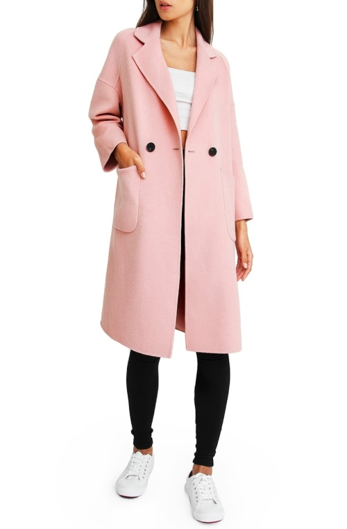 pastel pink wool coat as inauguration 2021 dupe