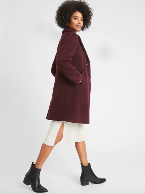 burgundy wool coat as inauguration 2021 dupe