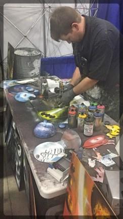 Ottawa Comiccon Artist Alley Spray Paint