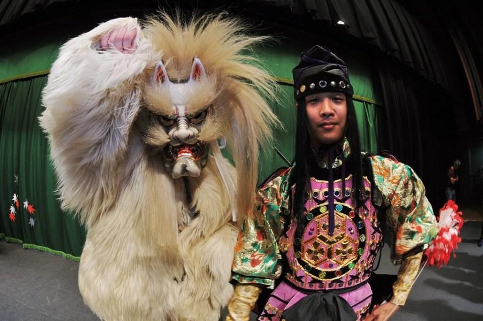 Japon, Chûgoku, Hiroshima, théatre traditonel Kagura inscrit au Patrimoine mondial de l'Humanité par l'Unesco, centre culture de la ville // Japan, Chugoku, Hiroshima, Kagura traditional theatre at the World Heritage of Unesco in cultural centre of Hiroshima