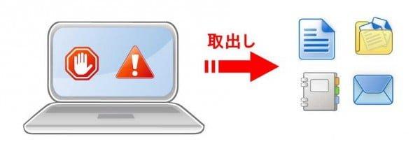 立ち上がらないパソコンでもデータ救出の可能性は高いです。