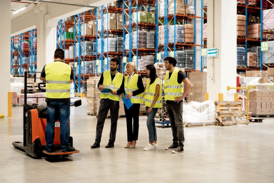 Powered pallet forklift Training