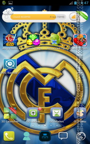 Real Madrid Launcher : madrid, launcher, Football, Themes, Samsung, Galaxy, Young