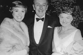 Julie Andrews, Walt Disney et Pamela Lyndon Travers (archives Disney)