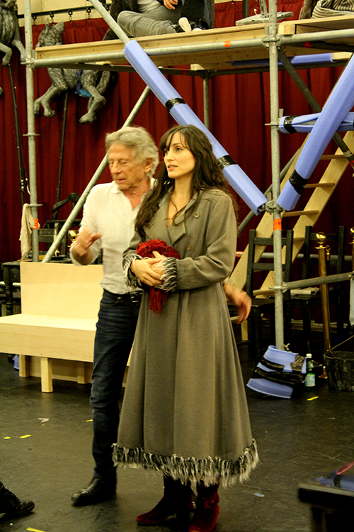 Roman Polanski et Sarah (Rafaëlle Cohen)