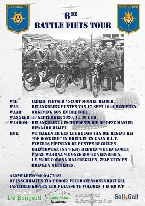 De flyer van de zesde Battle fiets tour