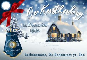 Kaart optreden harmonie Pro de Kerstherberg Honore Et Virtute voor Berkenstaete