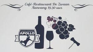 Handbalvereniging Apollo nodigt je uit voor een wijnavond