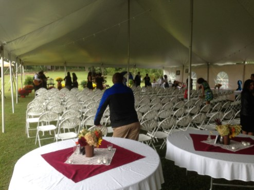 Providing seating for over 180