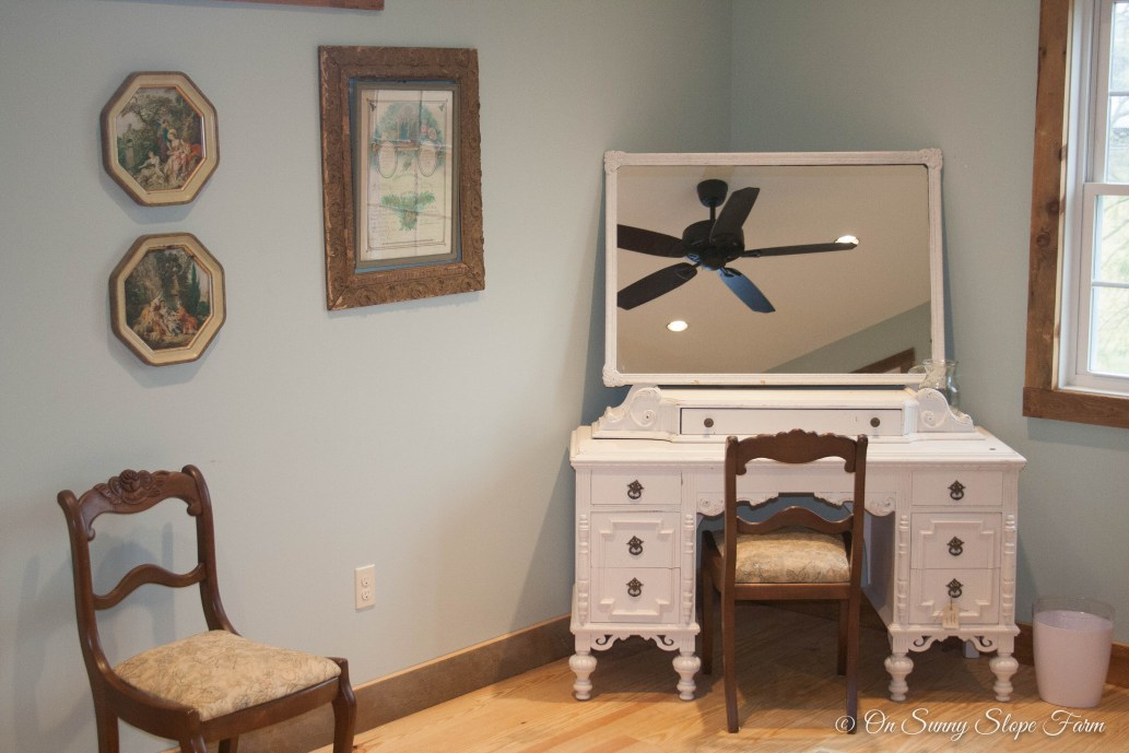 Desk and Dressing or Makeup Station in Ladies Dressing Suit
