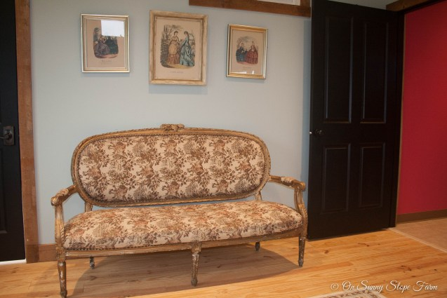 Victorian Couch great for seating or pictures in Ladies Dressing Suit