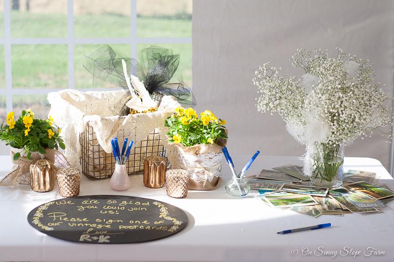 Black white gold wedding theme decorations-4