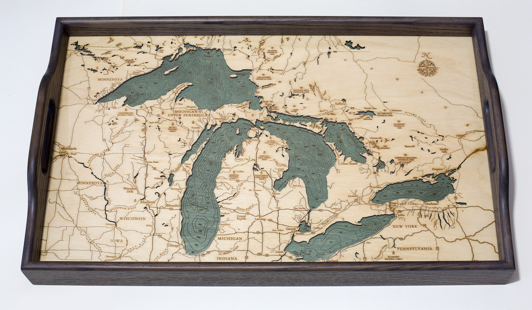 Great Lakes Wood Serving Tray