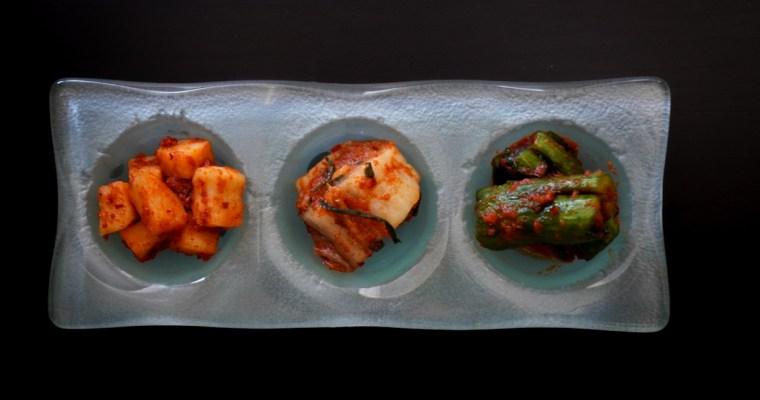キムチ3種 (Three types of Kimchi)