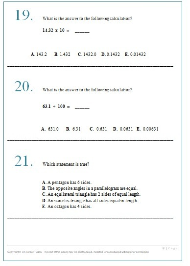 GL Maths and English Practice Papers