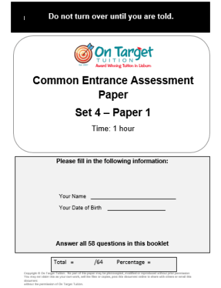 AQE Practice Paper Set 4