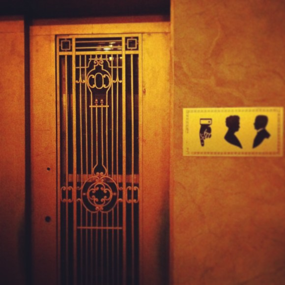 Hand Operated Elevator - Elgin Theatre
