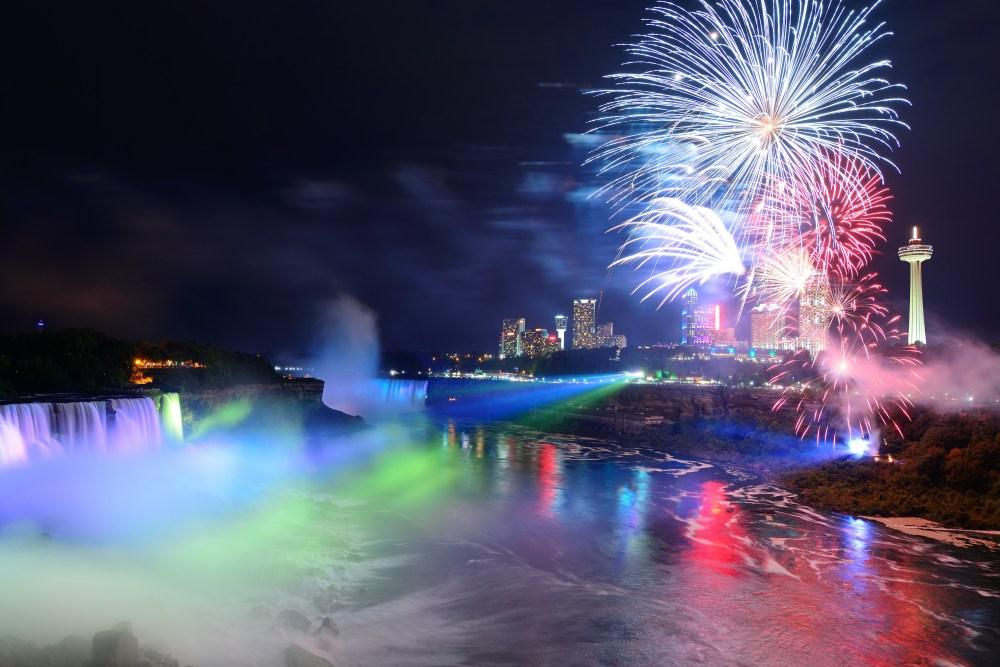 Fireworks over Niagara Falls WFOL