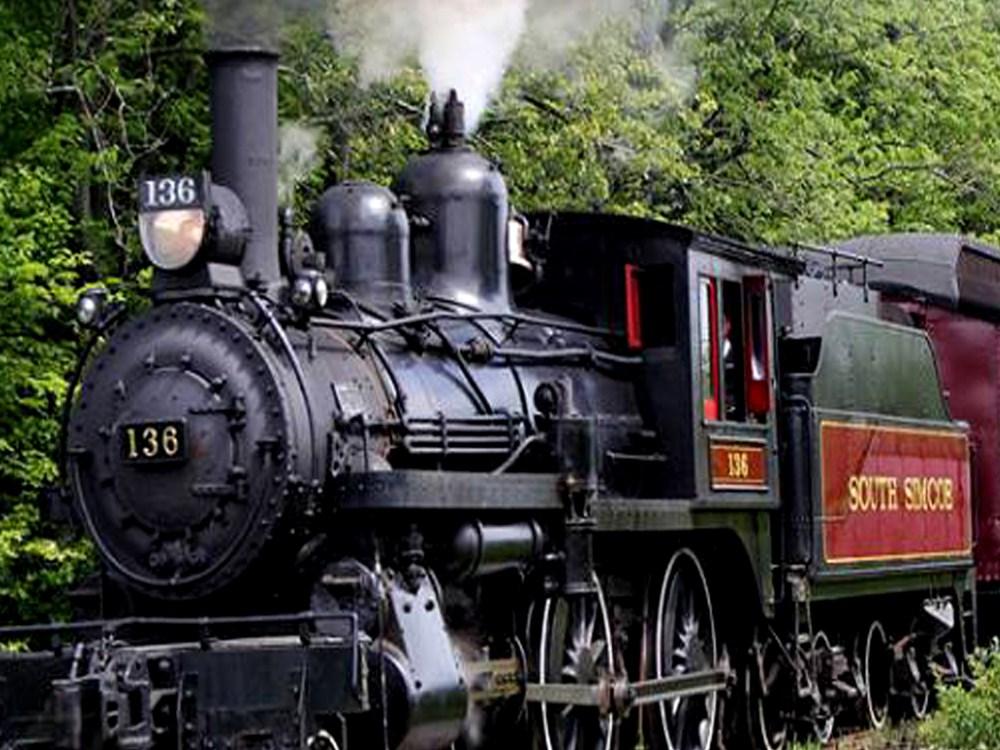 Engine car of the South Simcoe Railway train