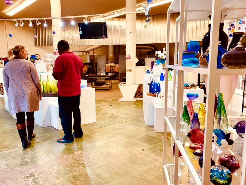People shopping for one-of-a-kind gifts