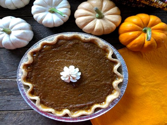 a yummy looking pumpkin pie