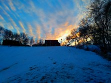 The sunset over the tobogganing hill.