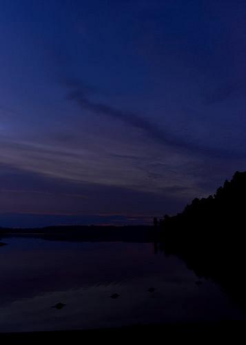 Sunset over Grundy Lake.