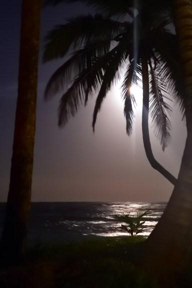The midnight moon.