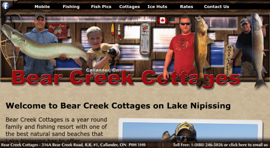 Cottages and Cabins for rent in Lake Nipissing - South Bay
