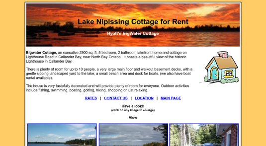 Cottages and Cabins for rent in Lake Nipissing - Callander